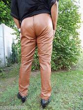 PANTALON  SEXY en cuir véritable NOIR TAILLE M