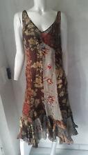 Ralph Lauren Vestito di seta Witley Floreale Viola Gr.6/eu36 / EU 38 750 00