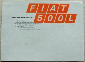 FIAT 500L Car Sales Brochure c1970 #2734