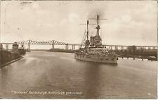 Schiff, Kriegsmarine, Linienschiff Hannover, Brücke, Rendsburg, Foto-Ak von 1927