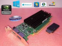 HP Compaq 8300 Elite NVIDIA SFF Dual Displayport Video Card + HDMI Adapter