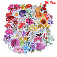 50Pcs Beautiful Colorful Flowers Blooms Stickers for Skateboard Bicycle SuitcaBX