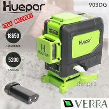 Huepar 903DG Nivel láser, control remoto, Verde autonivelante, 12 líneas