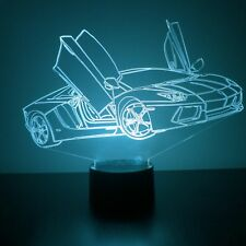 Sports Car LED Night Light - Personalized FREE - 16 Color LED w/ Remote