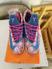 8727c979f5b5 NIKE ZOOM KEVIN DURANT KD VI 6 SUPREME AUNT PEARL FLORAL PINK BLUE  618216-600
