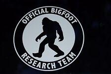 Big Foot Research Team Vinyl Decal Car Door Window Sasquatch 75104L