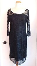 LBD NWOT BLACK LACE BEADED DRESS Sexy & Elegant Sz 10 VALERIE  PERFECT CONDITION