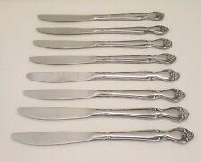 REGAL ROSE Ekco Eterna Stainless Silverware 2 Solid Handle Dinner Knives