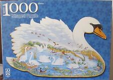 SWAN LAKE BY JOYCE CLEVELAND (Complete) SHAPED PUZZLE