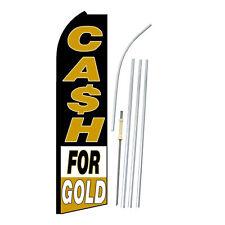 Cash For Gold Flag Flutter Feather Banner Swooper Bundle Kit