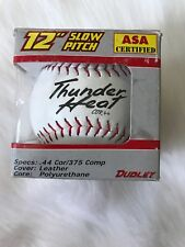 "Dudley Thunder Heat 12"" Softball .44/375 Leather Wt 12 Rfbo Slow Pitch Poly Core"