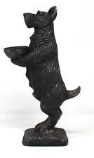 Black Standing Scottie Dog Trinket Tray Novelty Gifts Ornament Sculpture Holder