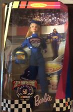 50th Anniversary Nascar 1998 Barbie Doll Hot Wheels Limited Edition Rare