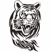 60x55cm Sticker Personnalisation Voiture Auto Autocollant Film / Tigre Tête
