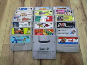 Super Famicom Gamecartridge Lot of 18 Piece Rockman X SNES SFC Japan f272