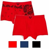 True Religion Men's 2 Pack Bandana & Solid Boxer Briefs Underwear Box Set