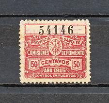 NNBJ 195 ARGENTINA REVENUE PROVINCIA SANTA FE 1915 USED