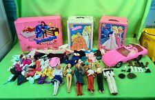 Vintage Barbie Doll Clothing, Accessories, Pink Corvette - Lot Good condition!