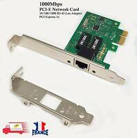 Carte Réseau RJ45 PCI-E PCI EXPRESS 10/100/1000 Mbps Desktop Gigabit Ethernet