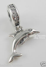 NEW Genuine PANDORA Silver/Cz PLAYFUL DOLPHIN Beach/Water VACATION Charm~Bead