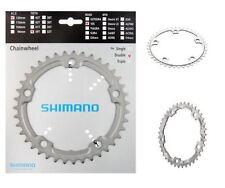 Platos y coronas Shimano de plata de aluminio para bicicletas