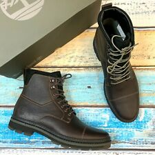 Timberland Men's Port Union Waterproof Insulated Dark Brown Leather Boots A28YQ