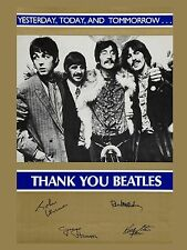 "Beatles Thank You 16"" x 12"" Photo Repro Promo Poster"