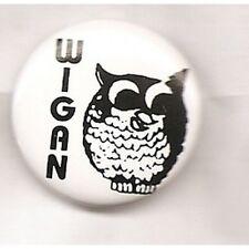 WIGAN CASINO OWL  BUTTON BADGE - NORTHERN SOUL 70s RARE SOUL CLUB 25mm PIN