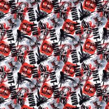 Marvel Comics ANT MAN ALLOVER -100% Cotton Red, Black, White Fabric By The Yard