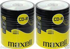 200 CD -R Maxell  vergini vuoti  STOCK shrink + 1 cd verbatim 700 mb 52x 624036