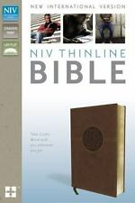 NIV Thinline Bible Brown Imitation Leather by Zondervan Publication BRAND NEW