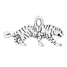 50 Pendentifs breloque Tigre Animal Accessoire 22x11mm B28457
