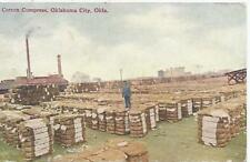 Oklahoma City Ok Cotton Compress Postcard 1910