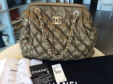 Chanel XL Size Olive/Gold Bubble Tote Handbag Hobo Purse Mint! Shop Our LA store