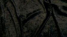 Noir de jais velours / velours écrasé tissu