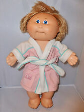 "Cabbage Patch Kids Coleco 14"" Doll Plastic Body Short Hair Robe 1982 Vintage"