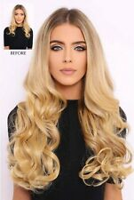 Super Thick 22inch 5 Piece Curly Clip Hair in Light Blonde Still With Tags