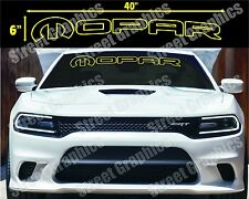 MOPAR YELLOW OUTLINE WINDOW DECAL..CHARGER, CHALLENGER, RAM, OR ANY DODGE MODEL