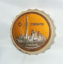 Vintage Toronto Canada Skyline Travel Souvenir Fridge Magnet Bottle Opener Cap