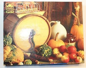 "Golden 500 Piece Jigsaw Puzzle ""Harvest Still Life"" New sealed Vintage"