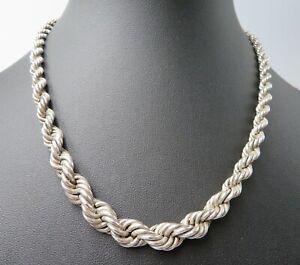 Tolle 925 Silber Kordelkette Halskette (1232)
