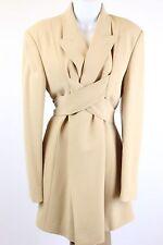 Jean Paul Gaultier - Beige - Wrap Jacket Blazer with Pants Suit Set 2pc  Size 12