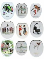 Looprints Illustrated Funny Picture Wooden Novelty Toilet Seats