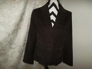 Talbots size 12 stretch brown long sleeve small ribbed corduroy blazer