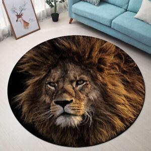 Africa Wild Animals Lion Area Rugs Bedroom Carpet Living Room Round Floor Mat