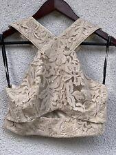 Guess Marciano Women's  Beige Crop Top (Size 6) NWT