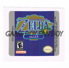 Legend of Zelda Oracle of Ages Replacement Label Sticker Glossy Gameboy Color