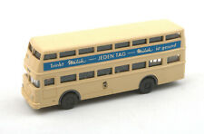 Wiking HO 1:87 Berliner Doppeldeck Bus 'Flughafen' Nr.72d 1970s