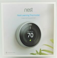 Nest 3rd Gen Learning Stainless Steel Programmable Thermostat Fair