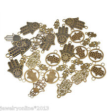 20 Mix Bronze Hand der Fatima Charm Anhänger Kettenanhänger Pendant
